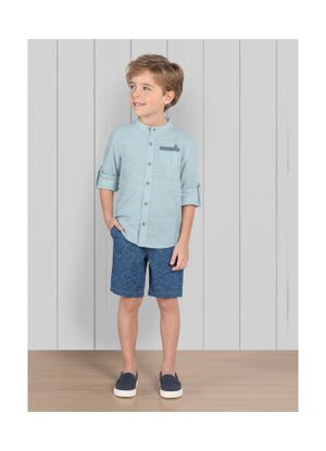 Camisa-Infantil-Tricoline-Trick-Nick-Azul