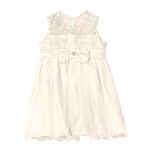Vestido-Infantil-Trick-Nick-Bege