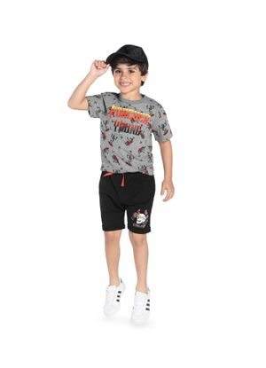 Camiseta-Infantil-Rovitex-Kids-Cinza