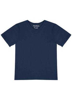 Camiseta-Infantil-Basica-Rovitex-Kids-Azul
