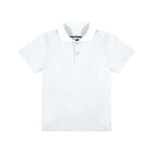 Camisa-Polo-Basica-Infantil-Rovitex-Kids-Branco