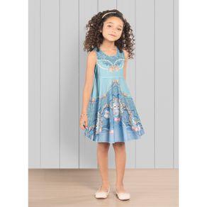 Vestido-Infantil-Trick-Nick-Azul