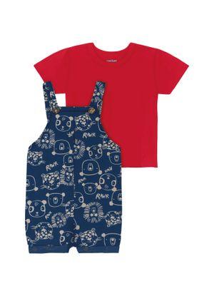 Conjunto-Infantil-Jardineira-Rovitex-Kids-Vermelho