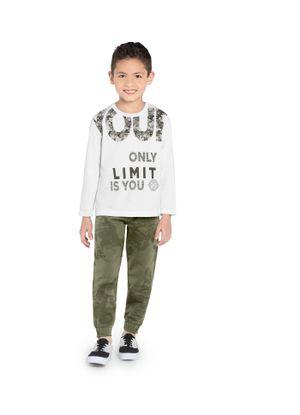 Camiseta-Infantill-Manga-Longa-Frase-Rovitex-Kids-Branco
