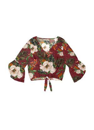 Blusa-Feminina-Estampa-Floral-Endless-Roxo