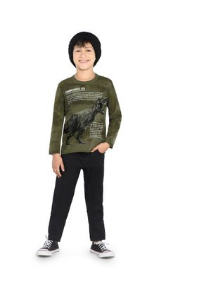 Camiseta-Infantil-Dinossauro-Rovitex-Kids-Verde