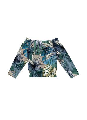 Blusa-Feminina-Ciganinha-Estampada-Endless-Verde