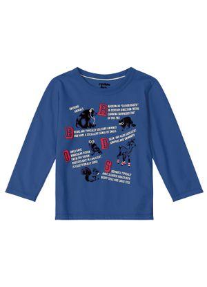 Camiseta-Infantil-Feminina-Rovitex-Kids-Azul