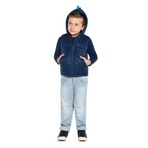 Colete-Infantil-Microfibra-com-Capuz-Trick-Nick-Azul