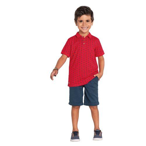 Polo-Infantil-Piquet-Rovitex-Kids-Vermelho