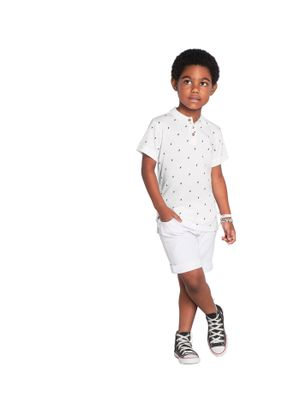 Polo-Infantil-Piquet-Rovitex-Kids-Branco