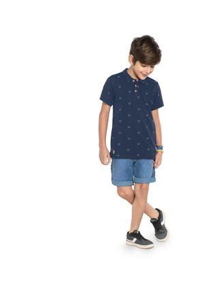 Polo-Infantil-Piquet-Masculina-Rovitex-Kids-Azul