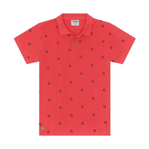Polo-Infantil-Piquet-Masculina-Rovitex-Kids-Vermelho