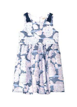 Vestido-Infantil-Floral-Trick-Nick-Azul