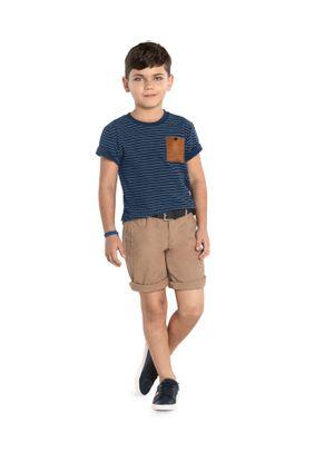 Camiseta-Infantil-Listrada-Trick-Nick-Azul