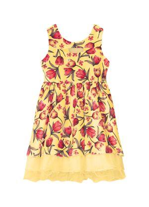 Vestido-Infantil-Floral-Trick-Nick-Amarelo