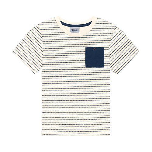 Camiseta-Infantil-Listrada-Trick-Nick-Bege