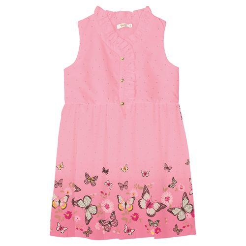 Vestido-Infantil-Estampado-Trick-Nick-Rosa