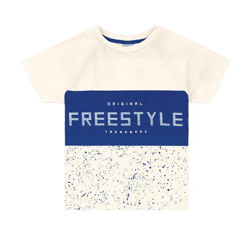 Camiseta-Infantil-Estampada-Trick-Nick-Bege