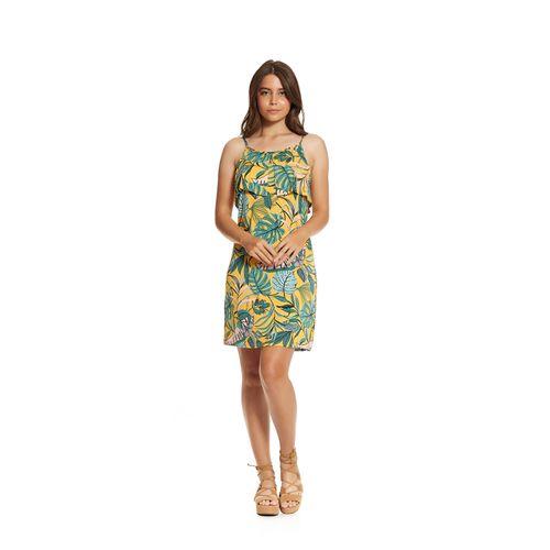 Vestido-Feminino-Alcas-Floral-Rovitex-Amarelo