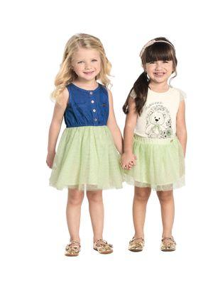 Vestido-Infantil-Jeans-com-Tule-Trick-Nick-Verde