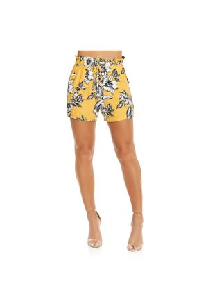 Short-Feminino-Floral-Endless-Amarelo