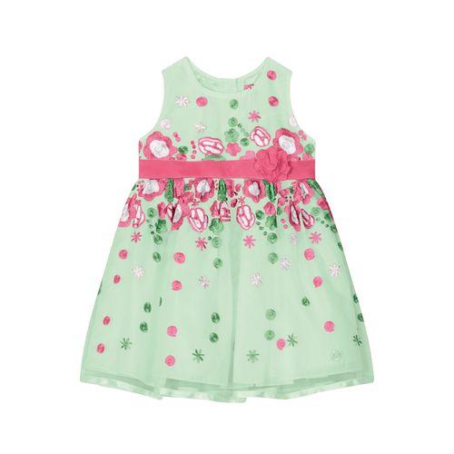 Vestido-Infantil-Bordado-Trick-Nick-Verde