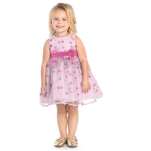 Vestido-Infantil-Bordado-Trick-Nick-Rosa