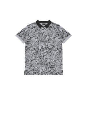 Camisa-Polo-Masculina-Floral-Rovitex-Cinza