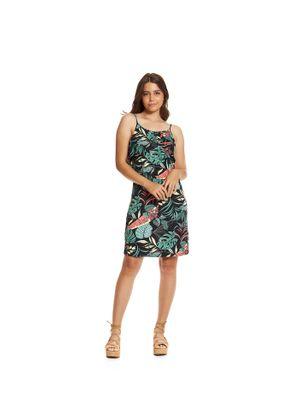 Vestido-Feminino-Alcas-Floral-Rovitex-Preto