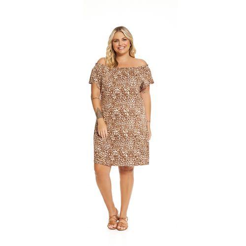 Vestido-Feminino-Estampado-Rovitex-Plus-Marrom