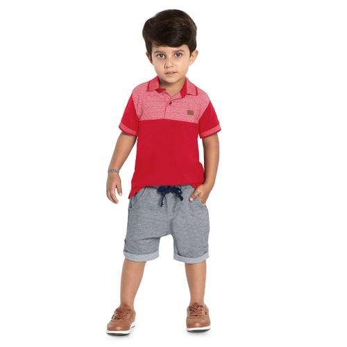 Polo-Infantil-Estampada-Trick-Nick-Vermelho