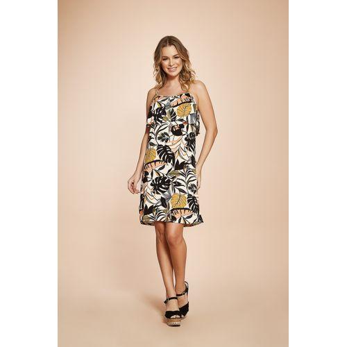 Vestido-Feminino-Alcas-Floral-Rovitex-Cinza
