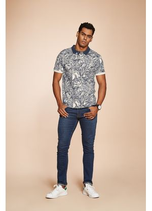 Camisa-Polo-Masculina-Floral-Rovitex-Bege
