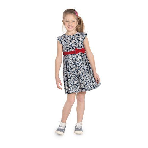 Vestido-Infantil-Floral-Rovitex-Kids-Azul