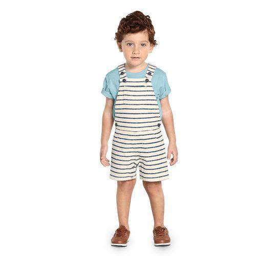 Jardineira-Infantil-Moletom-Trick-Nick-Bege