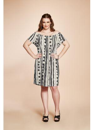 Vestido-Feminino-Estampado-Rovitex-Plus-Preto