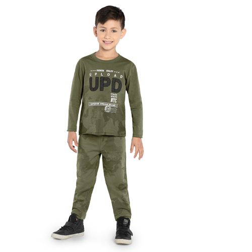 Camiseta-Infantil-Manga-Longa-Rovitex-Kids-Verde