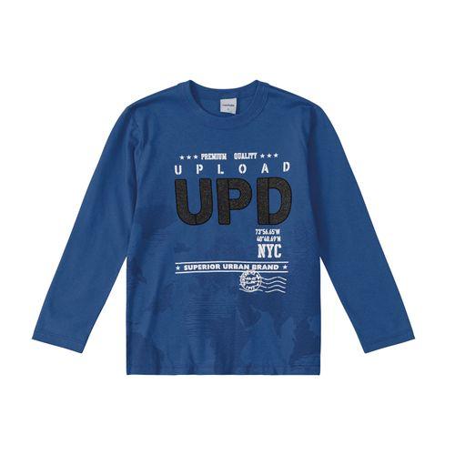 Camiseta-Infantil-Manga-Longa-Rovitex-Kids-Azul