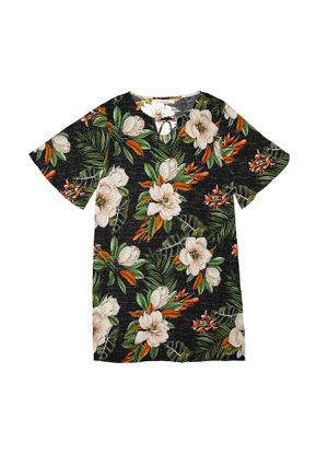 Vestido-Feminino-Estampa-Floral-Endless-Preto