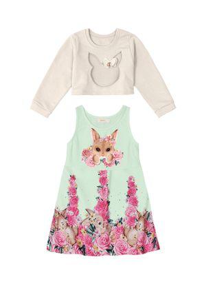 Conjunto-Infantil-Vestido-e-Blusao-Trick-Nick-Verde