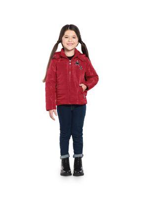 Parka-Infantil-Feminina-com-Capuz-Rovitex-Kids-Vermelho