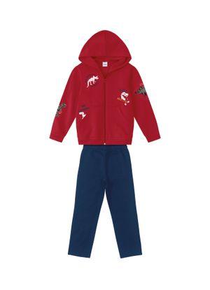 Conjunto-Infantil-Dinossauro-Bolsos-Rovitex-Kids-Vermelho