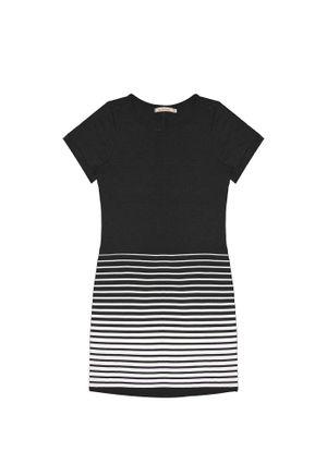 Vestido-Feminino-com-Listras-Endless-Preto