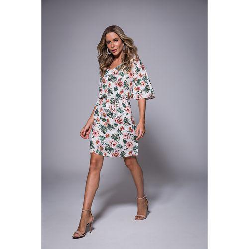 Vestido-Feminino-Viscose-Estampado-Endless-Bege