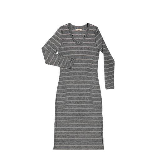 Vestido-Feminino-Midi-Listrado-Endless-Cinza