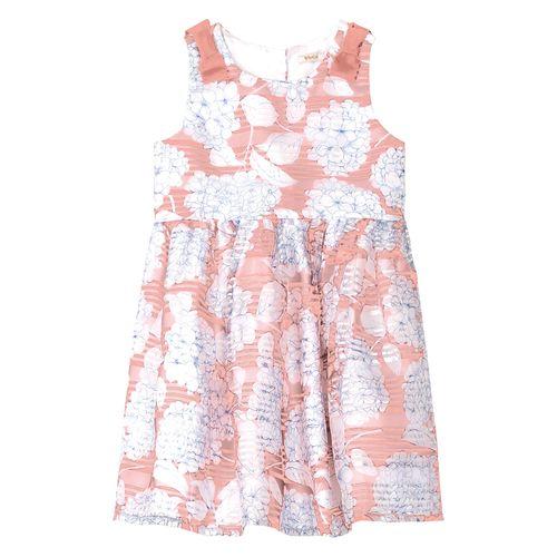 Vestido-Infantil-Floral-Trick-Nick-Rosa