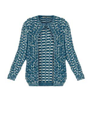 Casaco-Trico-Feminino-Secret-Glam-Azul