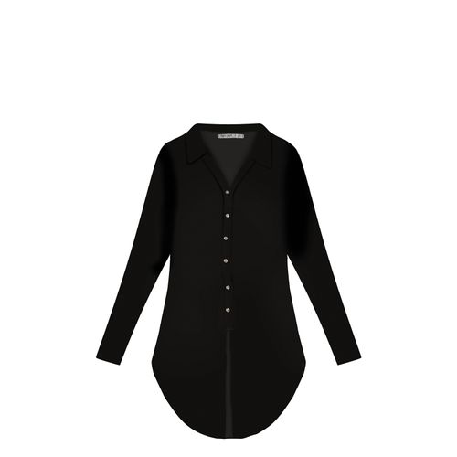 Blusa-Alongada-Feminina-Secret-Glam-Preto
