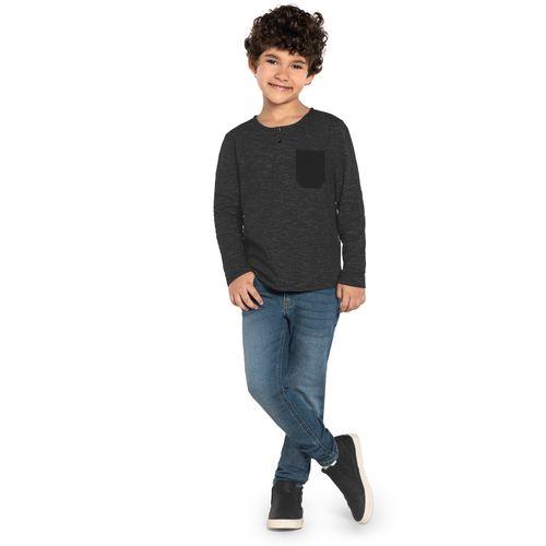 Camiseta-Infantil-Manga-Longa-Trick-Nick-Preto